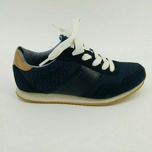 Tommy Hilfiger TW Maddie R Vegan Leather Boys 6M Navy Blue Sneakers Tennis Shoes